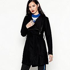 mbyM - Black Funnel Neck Wool Blend 'Mika' Coat