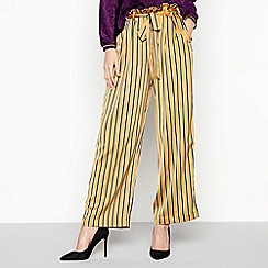 b79575f9f Lolly's Laundry - Mustard Yellow Striped 'Aila' Trousers