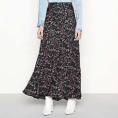 Lolly's Laundry - Black floral 'Mio' maxi skirt