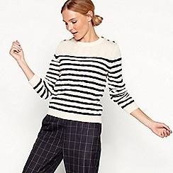 Stella Nova - White striped cotton wool jumper