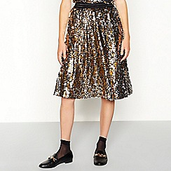 Stella Nova - Gold sequinned 'Zenia' knee length skirt