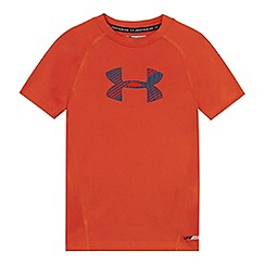 Under Armour - Childrens' orange logo print t-shirt