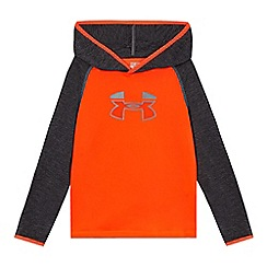 Under Armour - Childrens' orange logo print hoodie