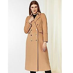 Wallis - Camel long military coat