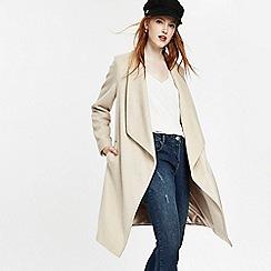 Wallis - Stone stud pocket waterfall coat