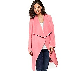 Wallis - Bright pink drawn waterfall coat