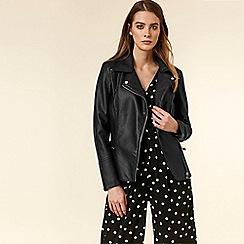 Wallis - Black Faux Leather Jacket