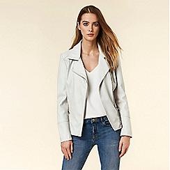 Wallis - Grey Faux Leather Jacket
