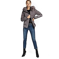Wallis - Mink draw waist short padded Jackets