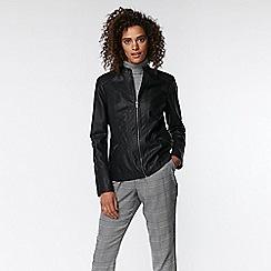 Wallis - Black multistitch centre front jacket