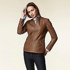 e526cebac6e Wallis - Tan multistitch centre front biker jacket