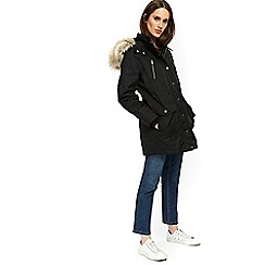 Wallis - Black luxury parka coat