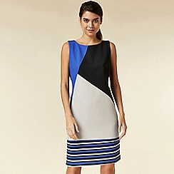 Wallis - Petite blue colour block shift dress