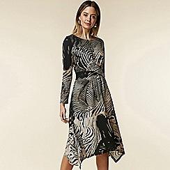 Wallis - Petite animal twist front dress