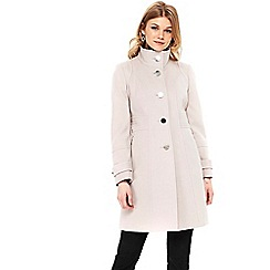 Wallis - Petite faux wool zip coat