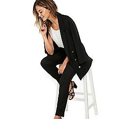 Wallis - Petite black side zip trouser