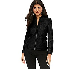 Wallis - Petite black biker jacket