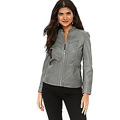 Wallis - Petite grey biker jacket
