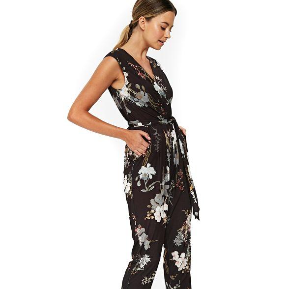 oriental Petite Wallis blossom black jumpsuit Bq6UxPXn