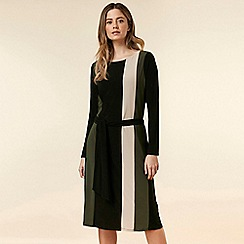 Wallis - Petite black colour block dress
