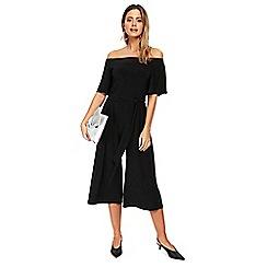 Wallis - Petite black bardot jumpsuit