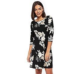 Wallis - Neutral floral strap dress