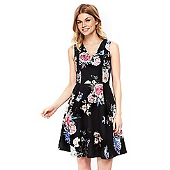 Wallis - Petite floral fit and flare dress