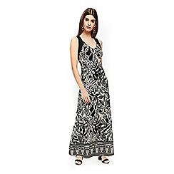 Wallis - Petite stone leaf print maxi dress