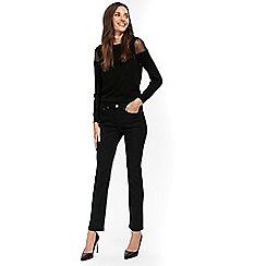 Wallis - Petite black harper straight leg jeans