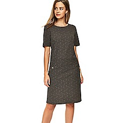 Wallis - Petite camel textured shift dress