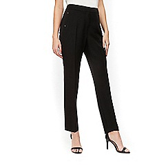 Wallis - Petites tapered black trousers