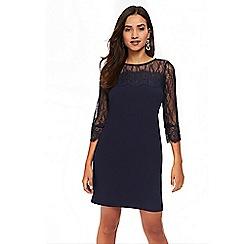 Wallis - Petites navy lace shift dress