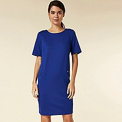 Wallis - Petite blue stud shift dress