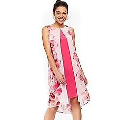 Wallis - Petite white floral print shift dress