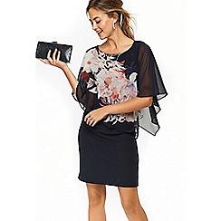 Wallis - Petite navy blossom dress