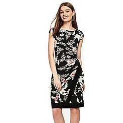 Wallis - Petite black oriental print shift dress