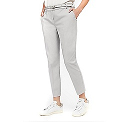 Wallis - Petites grey belted trousers