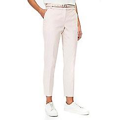 Wallis - Petite blush belted trousers