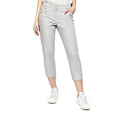Wallis - Petite grey cropped trouser