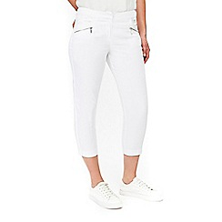 Wallis - Petite white cropped trousers