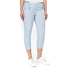 Wallis - Petite blue cropped trousers