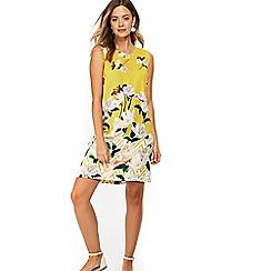 Wallis - Petite ochre floral shift dress