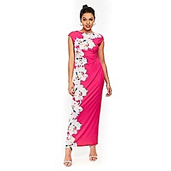 Wallis - Petite pink floral maxi dress
