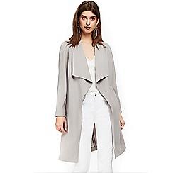 Wallis - Petite grey duster coat