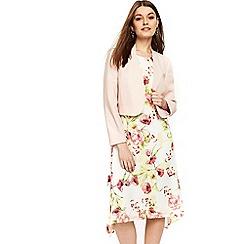 Wallis - Petite blush cropped blazer