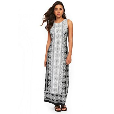Wallis   Petite Monochrome Maxi Dress by Wallis