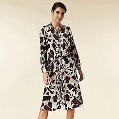 Wallis - Petite stone cowhide button shirt dress