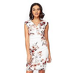 Wallis - Petite ivory floral shift dress