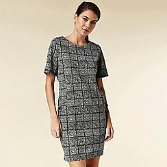 Wallis - Petite grey check shift dress