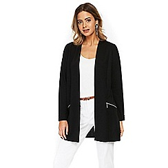 Wallis - Petite black longline jacket